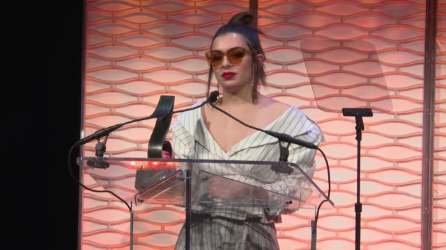 speech charli xcx accepts her award for songwriter of the year at 2017 sesac pop music awards at cipriani 42nd street on april 13 2017 in new york... - charli xcx stock videos & royalty-free footage