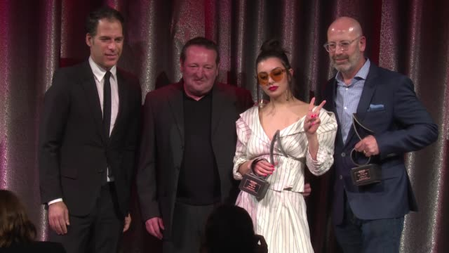 charli xcx at 2017 sesac pop music awards at cipriani 42nd street on april 13 2017 in new york city - charli xcx stock videos & royalty-free footage