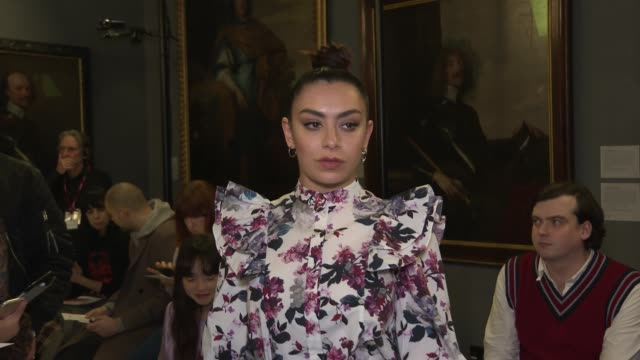 charli xcx at london fashion week a/w 2020 erdem at national portrait gallery on february 17 2020 in london england - charli xcx stock videos & royalty-free footage