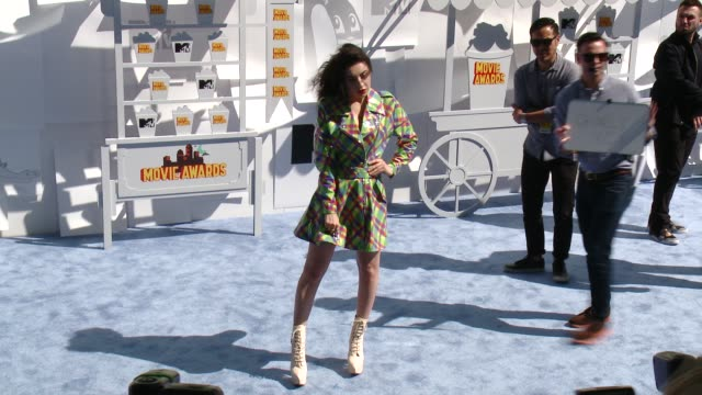 charli xcx at the 2015 mtv movie awards at nokia theatre la live on april 12 2015 in los angeles california - charli xcx stock videos & royalty-free footage