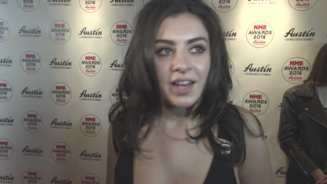 interview charli xcx on the return of the libertines at nme awards at o2 academy brixton on february 17 2016 in london england - charli xcx stock videos & royalty-free footage