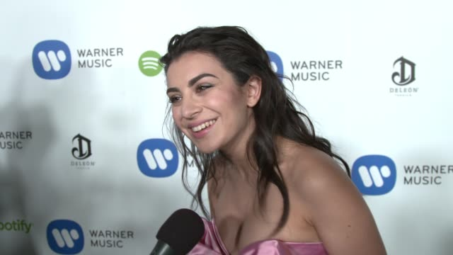 interview charli xcx on the show the event her favorite performances of the night at warner music group hosts annual grammy celebration in los... - charli xcx stock videos & royalty-free footage