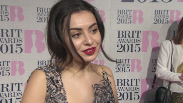 interview charli xcx on what she's wearing being at the awards at the brit awards 2015 at the o2 arena on february 25 2015 in london england - charli xcx stock videos & royalty-free footage