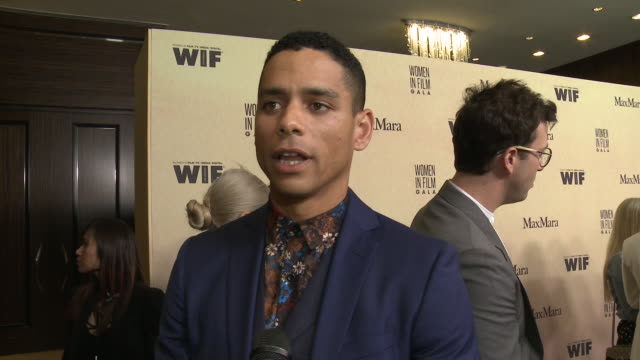 interview charlie barnett at 2019 women in film annual gala presented by max mara with additional support from partners delta air lines and lexus at... - delta air lines stock-videos und b-roll-filmmaterial