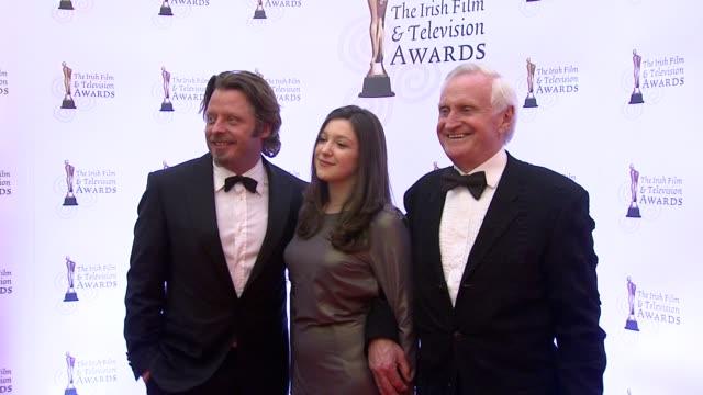charlie boorman and john boorman at the irish film & television awards at dublin . - irish film and television awards stock videos & royalty-free footage