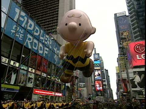 Charlie Brown parade balloon on Thanksgiving Day parade New York City New York USA