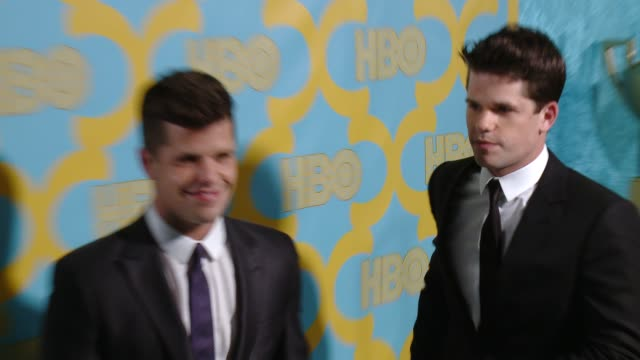 Charlie Carver and Max Carver at the HBO's Post 2015 Golden Globe Awards Party at The Beverly Hilton Hotel on January 11 2015 in Beverly Hills...