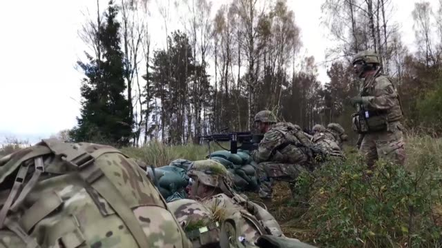 Charlie Company 1st Battalion 503rd Infantry Regiment 173rd Airborne Brigade conduct Platoon Live Fire Training Exercise at Range 307 Grafenwoehr...