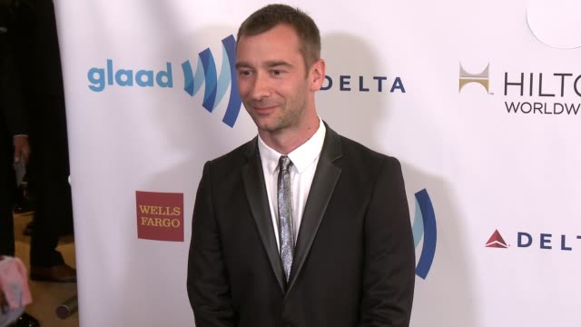 stockvideo's en b-roll-footage met charlie condou at the 25th annual glaad media awards at the beverly hilton hotel on april 12 2014 in beverly hills california - beverly hilton hotel