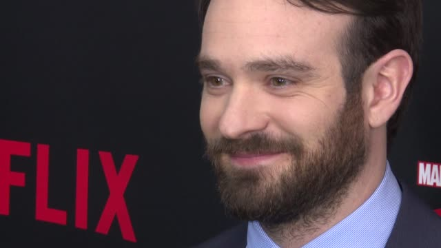 charlie cox at daredevil season 2 premiere at amc loews lincoln square on march 10 2016 in new york city - amc loews stock videos and b-roll footage