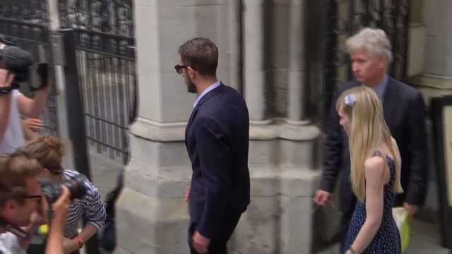 parents asked for new evidence High Court EXT Chris Gard and Connie Yates into taxi outside High Court following press conference press scrum in...