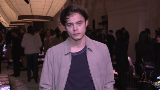 Charlie Heaton Anais Gallagher front row for the HM Fashion Show in Paris Paris France on Wednesday February 28 2018