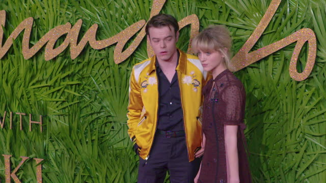 Charlie Heaton Natalia Dyer at The Fashion Awards 2017 at Royal Albert Hall on December 04 2017 in London England