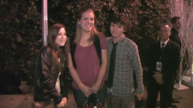 Charlie McDermott and Eden Sher at Green Door in Hollywood at the Celebrity Sightings in Los Angeles at Los Angeles CA