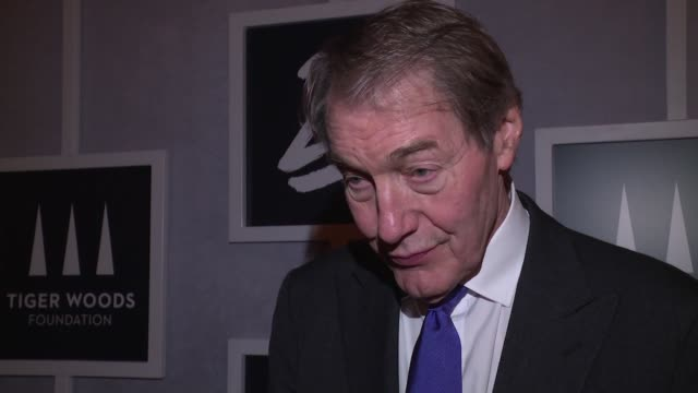 INTERVIEW – Charlie Rose on what it means to be part of celebrations tonight what he thinks of the work the Tiger Woods Foundation is doing with the...