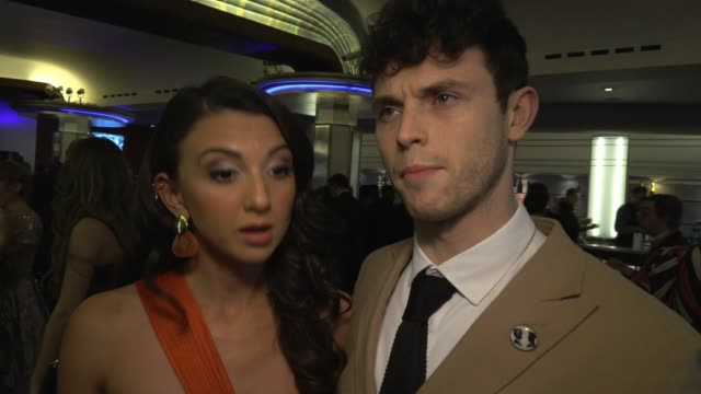 charlie stemp zizi strallen on how mary poppins returns movie brought attention to the world's most famous nanny at whatsonstage awards on march 01... - presentation stock videos & royalty-free footage
