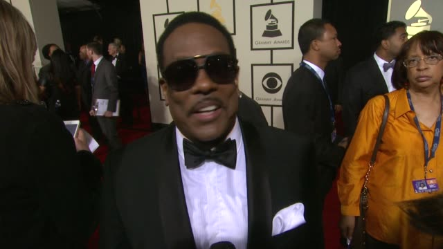 stockvideo's en b-roll-footage met interview charlie wilson on attending as both a presenter and a nominee and the story on how he ended up writing a gospel song at 56th annual grammy... - gospelmuziek