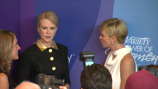 Charlize Theron and Nicole Kidman at Variety's 5th Annual Power of Women Event in Beverly Hills CA on 10/4/13