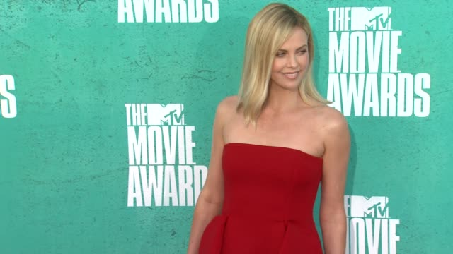Charlize Theron at 2012 MTV Movie Awards Arrivals at Gibson Amphitheatre on June 03 2012 in Universal City California