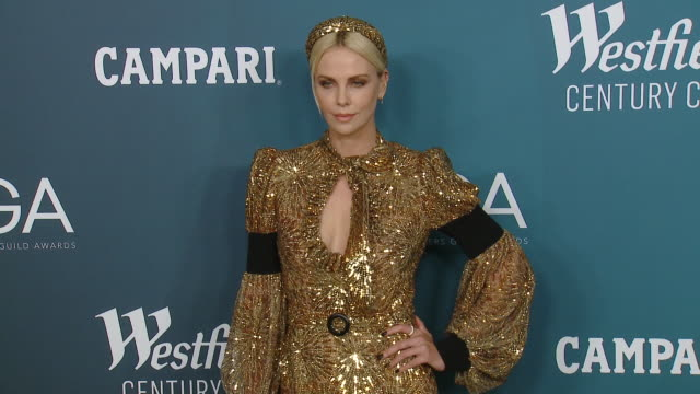 charlize theron at 22nd cdga in los angeles, ca 1/28/20 - charlize theron stock videos & royalty-free footage