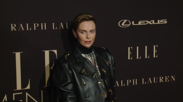 charlize theron at elle's 26th annual women in hollywood celebration presented by ralph lauren and lexus at four seasons hotel los angeles at beverly... - charlize theron stock videos & royalty-free footage