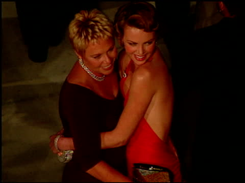 charlize theron at the 2000 academy awards vanity fair party at mortons in west hollywood, california on march 26, 2000. - charlize theron stock videos & royalty-free footage