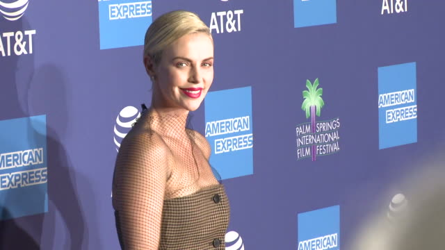 charlize theron at the 31st annual palm springs international film festival film awards gala - palm springs california stock videos & royalty-free footage