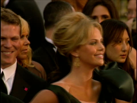 charlize theron at the 78th annual academy awards - arrivals at hollywood california. - academy awards stock videos & royalty-free footage
