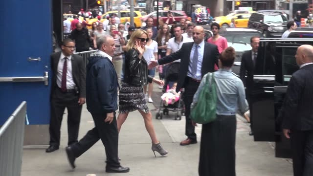 Charlize Theron at the 'Good Morning America' show in Celebrity Sightings in New York
