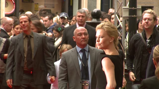 charlize theron at the hancock premiere at london . - première stock videos & royalty-free footage