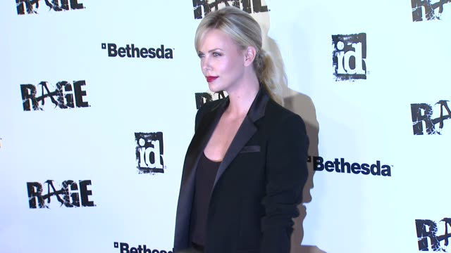 Charlize Theron at the 'Rage' Video Game Launch Party at Los Angeles CA