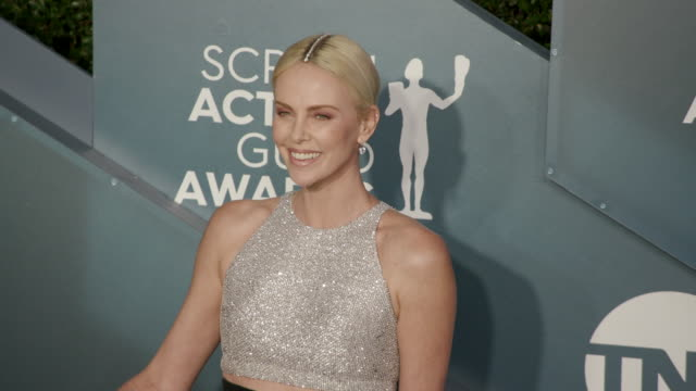 charlize theron at the shrine auditorium on january 19, 2020 in los angeles, california. - charlize theron stock videos & royalty-free footage