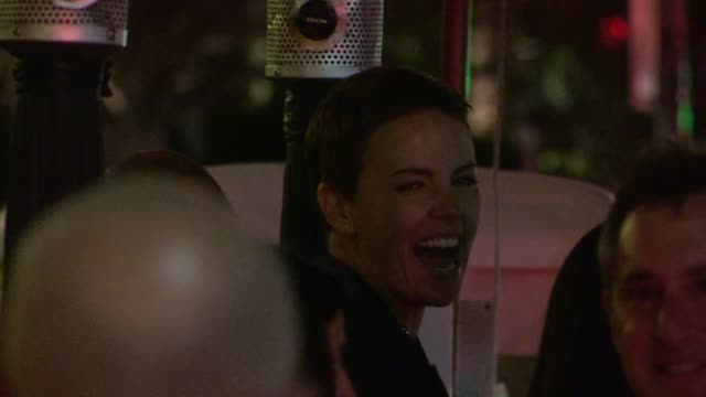 charlize theron departs a private cocktail party in century city 01/12/13 - century city stock videos & royalty-free footage