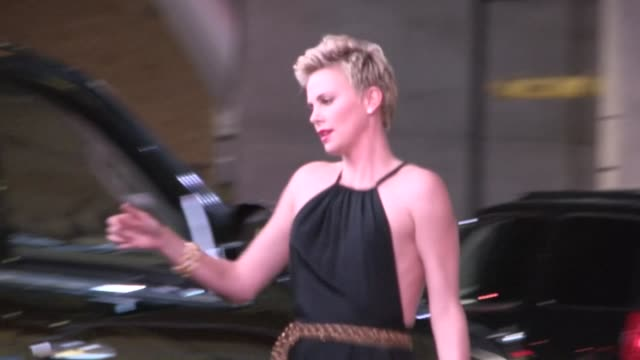 Charlize Theron departs the 24th Annual GLAAD Media Awards in Los Angeles 04/20/13