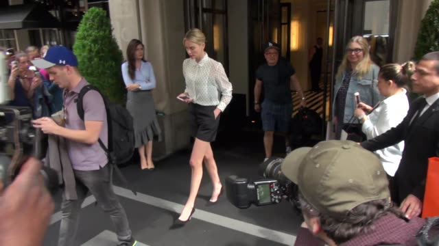 charlize theron leaves her hotel in new york city at celebrity sightings in new york on may 04 2018 in new york city - celebrity sightings stock videos & royalty-free footage