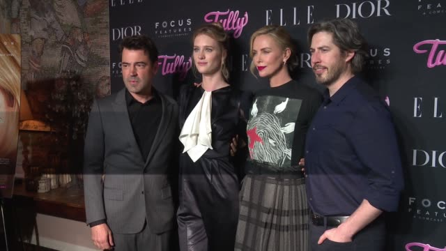 Charlize Theron Mackenzie Davis Ron Livingston Jason Reitman at 'Tully' New York Special Screening Presented by Elle Dior Focus Features at the...