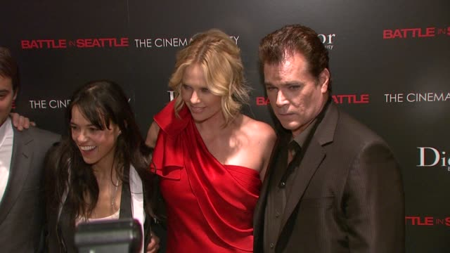 Charlize Theron Michelle Rodriguez Ray Liotta Stuart Townsend at the The Cinema Society and Dior Beauty Host a Screening of Battle in Seattle at New...