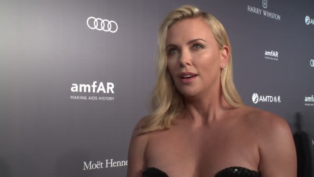 charlize theron on growing up in south africa and helping to raise aids awareness at amfar hong kong gala 2017 at shaw studios on march 25, 2017 in... - charlize theron stock videos & royalty-free footage