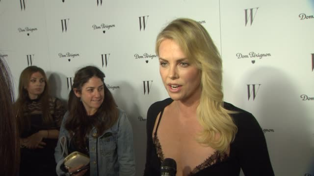 Charlize Theron on how it feels to see her cover spread in the issue how it felt to be recognized by PSIFF the Golden Globes and routing for herself...