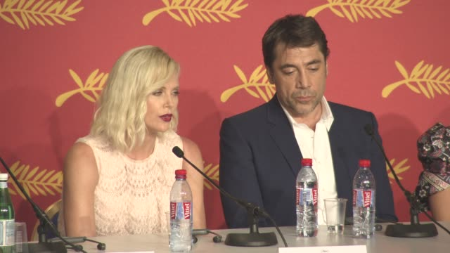 INTERVIEW Charlize Theron on humanitarian workers at 'The Last Face' Press Conference at Grand Theatre Lumiere on May 20 2016 in Cannes France