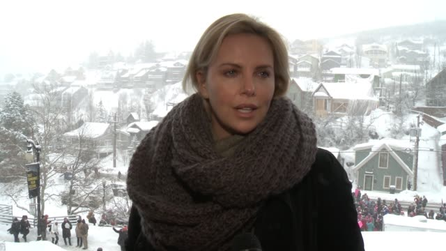 INTERVIEW Charlize Theron on supporting the women's march at Chelsea Handler Leads The Women's March On Main on January 21 2017 in Park City Utah