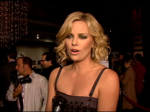 Charlize Theron on the film producing being lucky to make movies and working with AnnaSophia Robb at the 'Sleepwalking' Screening at Directors Guild...