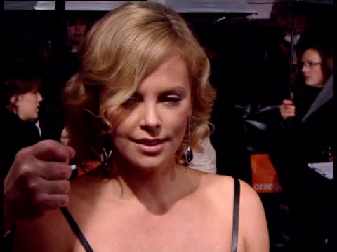charlize theron on working over the last two years. at the the orange british academy film awards 2006 - red carpet at london . - 2007 bildbanksvideor och videomaterial från bakom kulisserna