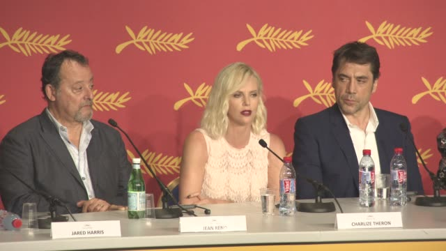 INTERVIEW Charlize Theron on working with nonprofessional actors and on being on set at 'The Last Face' Press Conference at Grand Theatre Lumiere on...