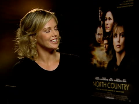 charlize theron oscar nomination charlize theron interview sot difficulties filming in freezing conditions - nomination stock videos & royalty-free footage