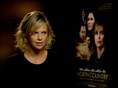 charlize theron oscar nomination england london int charlize theron interview sot great honour to play role in this film / shock to be recognised by... - oscar party stock videos & royalty-free footage