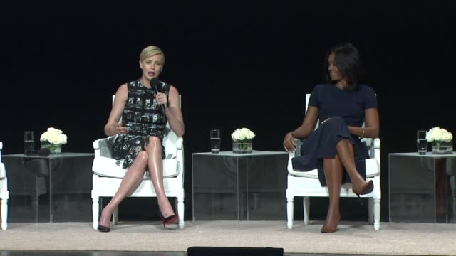 SPEECH Charlize Theron tells girl that smart is sexy and gives her views on the AIDS situation across the world and how education is the cure at...