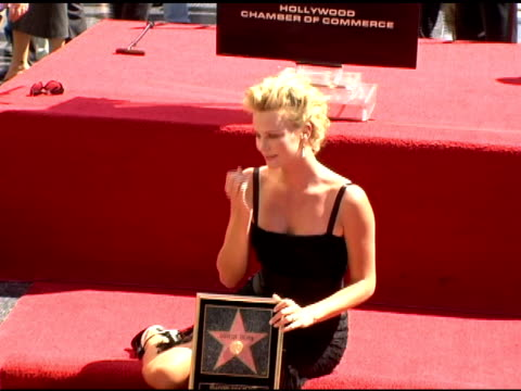 Charlize Theron with star at the Dedication of Charlize Theron's star on the Hollywood Walk of Fame at Hollywood Boulevard in Hollywood California on...