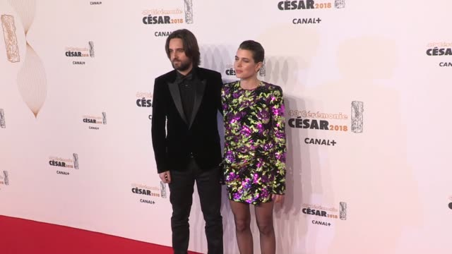 vidéos et rushes de charlotte casiraghi and dimitri rassam on the red carpet for the cesar film awards 2018 at salle pleyel in paris paris, france, on friday, march 2nd,... - cesar