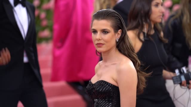 charlotte casiraghi at the 2019 met gala celebrating camp notes on fashion arrivals at metropolitan museum of art on may 06 2019 in new york city - met gala 2019 stock videos and b-roll footage